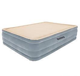 Надувная флокированная кровать Bestway 67486, бежевая, 203 х 152 х 46 см