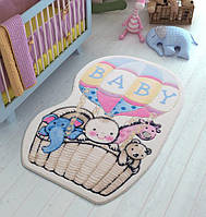 Коврик в детскую комнату 100х150 Air Baloon Blue Confetti