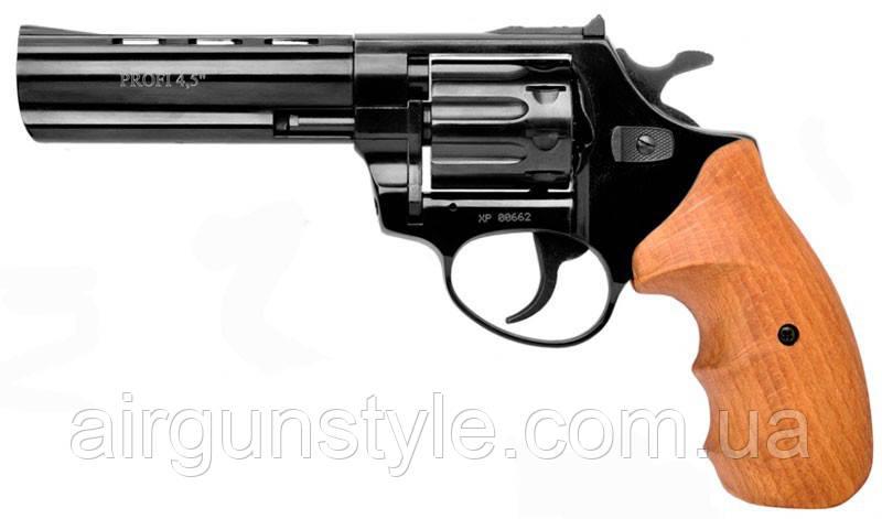 """Револьвер под патрон Флобера Zbroia Profi 4.5"""" (черный/бук)"""