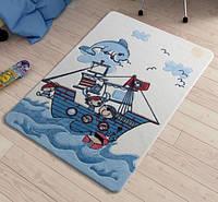 Коврик в детскую комнату 100х150 Smiley Dolphin Blue Confetti