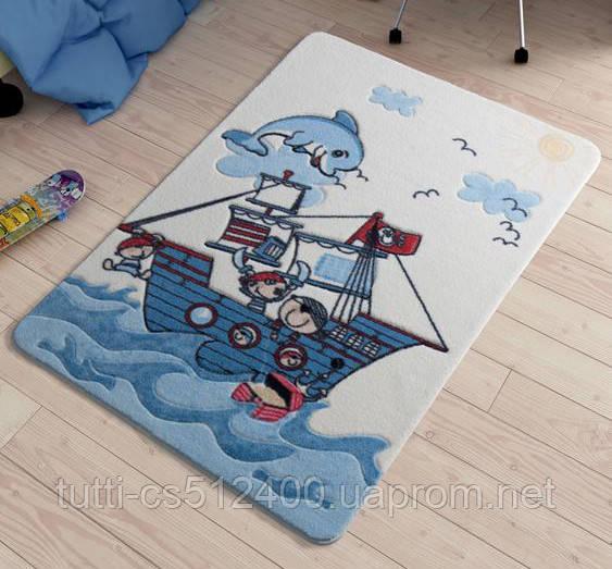 Купить Коврик в детскую комнату 100х150 Smiley Dolphin Blue Confetti