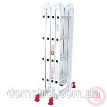 Лестница алюминиевая мультифункциональная трансформер 4x4 ступ. 4,62 м INTERTOOL