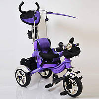 Детский трехколесный велосипед Lexus-Trike LX-570 надувные колеса Purple