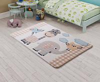 Коврик в детскую комнату 100х150  Animal Kingdom Beige Confetti