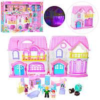 Домик 8140-4 (12шт) 24-24-13см, звук,свет, фигурки, мебель, на бат-ке, в кор-ке, 68,5-38-8см (Китай)