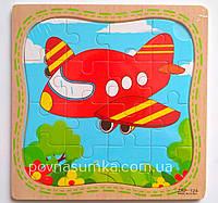 """Деревянные пазлы """"Самолетик"""", цена за 1 шт. (15х15см, в рамке)"""