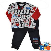 """Детский трикотажный костюм """"Break"""" , для мальчиков от 6-9-12 мес"""