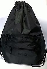 Рюкзак мешок спортивный Чёрный с серым замком