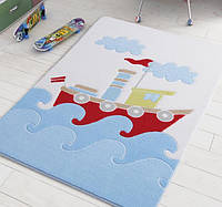 Коврик в детскую комнату 100х150 Baby Ship Blue Confetti