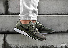 Мужские кроссовки Nike Flyknit Trainer Medium Olive/Black/White AH8396-200, Найк Флайнит, фото 2