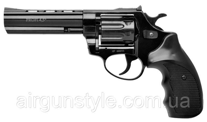 """Револьвер під патрон Флобера Zbroia Profi 4.5"""" (чорний пластик)"""