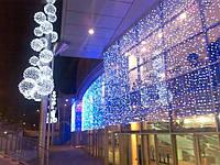 ПРАЗДНИЧНАЯ ИЛЛЮМИНАЦИЯ,новогоднее оформление магазинов.Световой занавес, фото 1