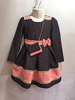 Платье для девочки (абрикос) с бантиком