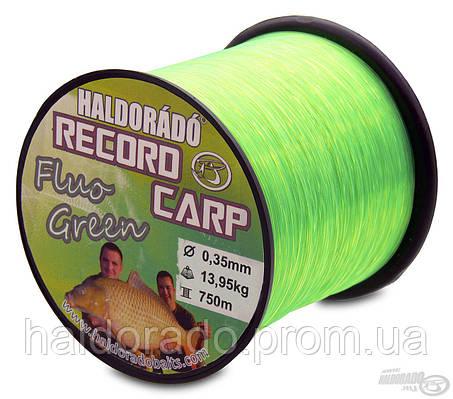 Леска 0,30 mm  Record Carp Fluo Green / 800 m - 10,85 kg