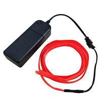 Brelong 5M красный свет EL Светодиодная полоса света для автомобиля / вечеринок DC 12V Корпус аккумулятора