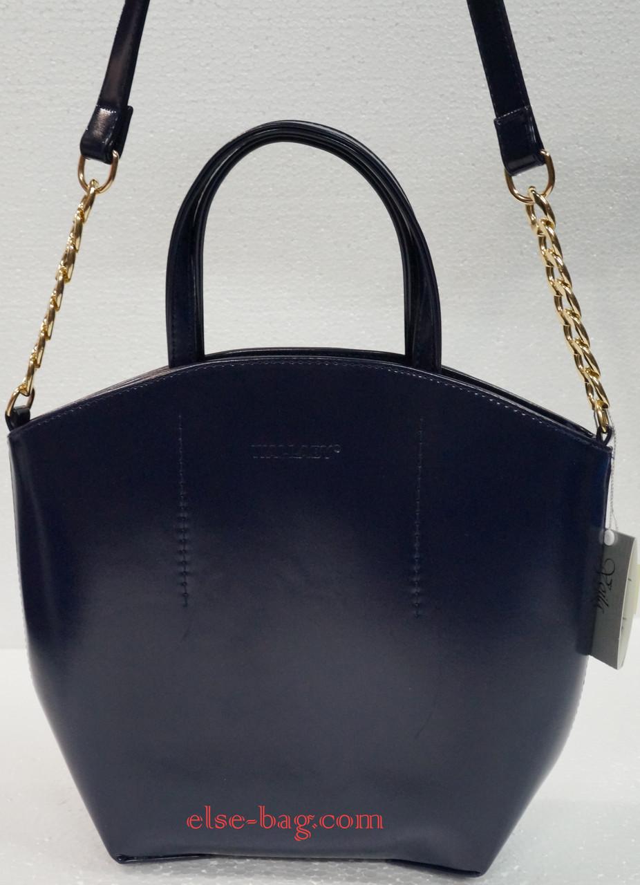 c45eac8f48bc Женская сумка полукруглая на цепочке из матового лака -
