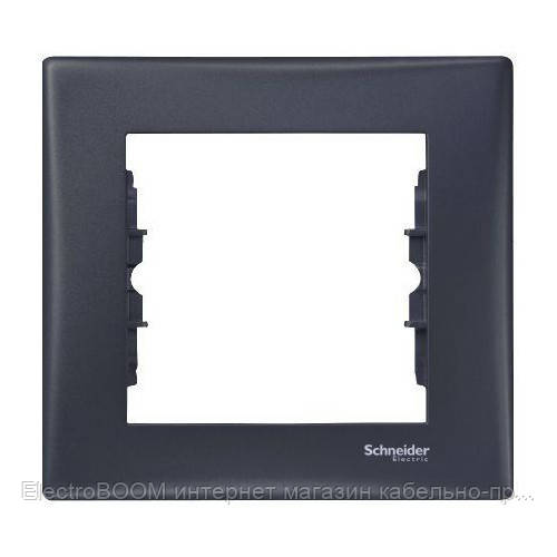 Однопостовая рамка Schneider Sedna Графит (SDN5800170)