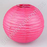 Бумажный подвесной фонарик, ярко-розовый, 25 см
