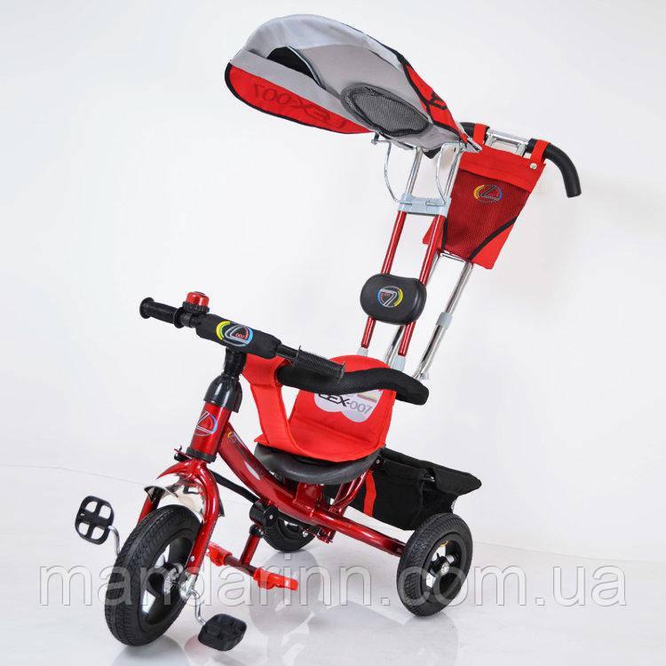 Велосипед триколісний Lex-007 (10/8 AIR wheels) Red
