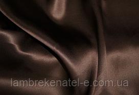 Атлас шторный коричневый