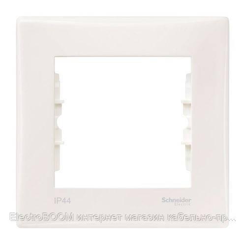 Однопостовая рамка Schneider Sedna Кремовый  IP44 (SDN5810123)