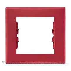 Однопостовая рамка Schneider Sedna Красный (SDN5800141)