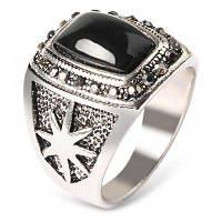 Мужчины Ретро звезды узор кольцо с искусственными бриллиантами 10
