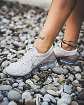 Женские кроссовки Nike Air Vapormax Flyknit String/Chrome/Sunset Glow, Найк Аир Вапор Макс, фото 3