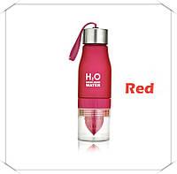 Бутылка - соковыжималка H2O для воды и напитков Красный