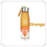 Бутылка - соковыжималка H2O для воды и напитков Оранжевый