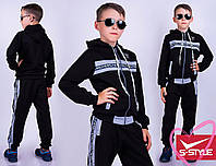Спортивный костюм подростковый. Черный/серый