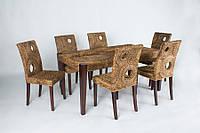 """Обеденный комплект из натурального дерева """"Лупита"""" стол+6 стульев"""