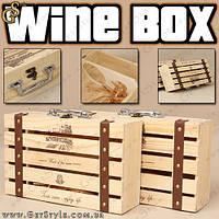 """Ящик для 2-х бутылок - """"Wine Box"""", фото 1"""