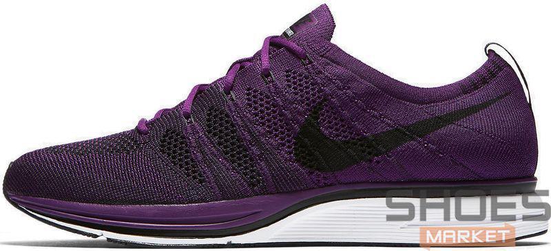 Женские кроссовки Nike Flyknit Trainer Night Purple/Black/White AH8396 500, Найк Флайнит
