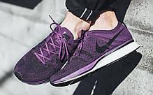 Женские кроссовки Nike Flyknit Trainer Night Purple/Black/White AH8396 500, Найк Флайнит, фото 3