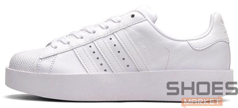 Женские кроссовки Adidas Superstar Bold W (Ftwr White Ftwr White Core Black) 85dba640ef223