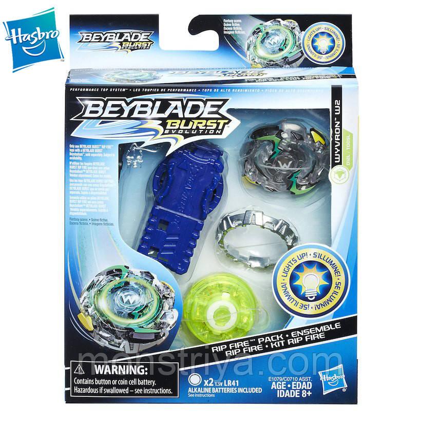 Бейблэйд Вибух Эволюция Beyblade волчок Вайлд Вайврон со световыми эфектами и пусковым механизмом WYVRON W2