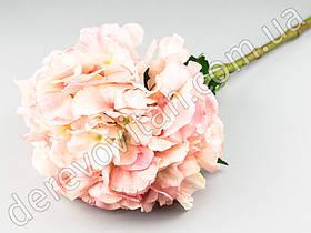 Декоративная ветка гортензии, светло-розовая, 23×53 см