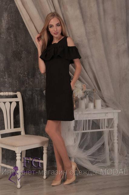 d98e160ba64 Черное Платье с Рюшами на Груди — в Категории