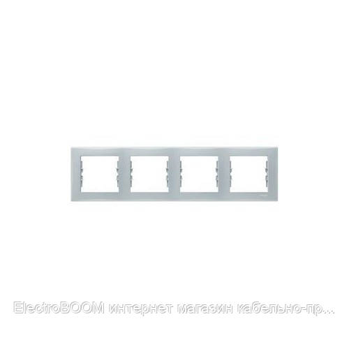 Четырехпостовая рамка Schneider Sedna Серый (SDN5800733)