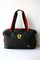 """Сумки женские """"Puma Ferrari"""" Пума Феррари спортивные сумки женские черные  для фитнеса"""