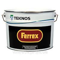 Краска-грунт по металлу Текнос Феррекс, 10л, черная
