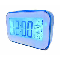 Часы будильник термометр календарь 2620 Blue