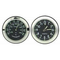 Часы термометр декор автомобиля Чёрный