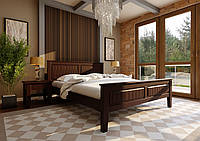 Кровать деревянная односпальная Глория с низким изножъем