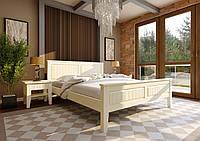 Кровать деревянная полуторная Глория с низким изножъем