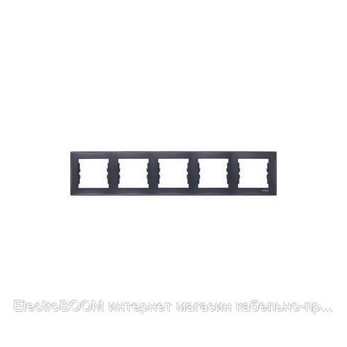 Пятипостовая рамка Schneider Sedna Графит (SDN5800970)