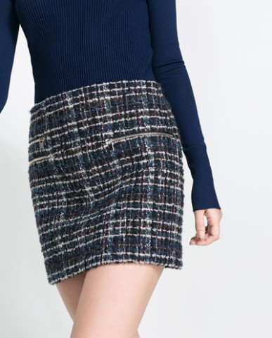 Новая юбка с молниями Zara