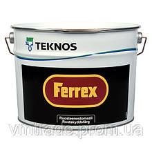 Краска-грунт для оцинковки Текнос Феррекс, 10л, серая