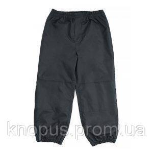 Детские  штаны непромокаемые на трикотажной подкладке,  темно-серые, NANO